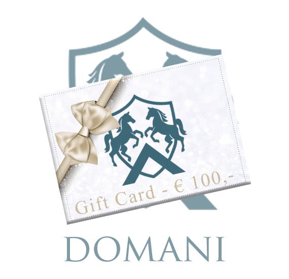 Giftcard 100 Euro Domani Equestrian