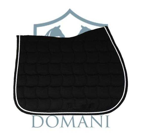 tapis de selle jumping noirblanc - Tapis Noir